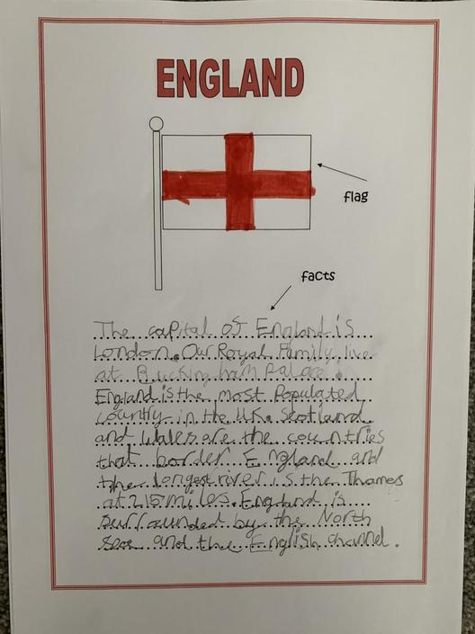 Violet has done great Geography research!