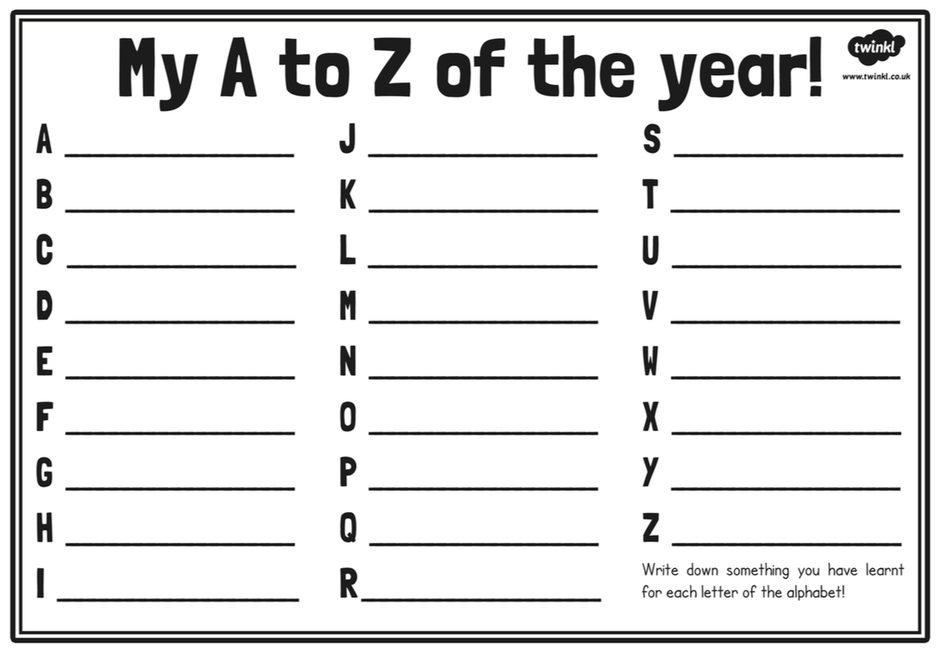 A-Z of my Year