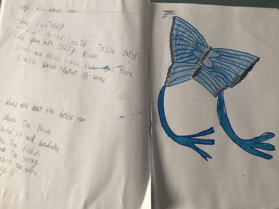 Isla has planned her kite...