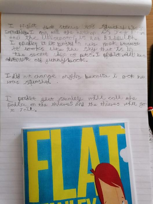 Jack has been working hard with his literacy.