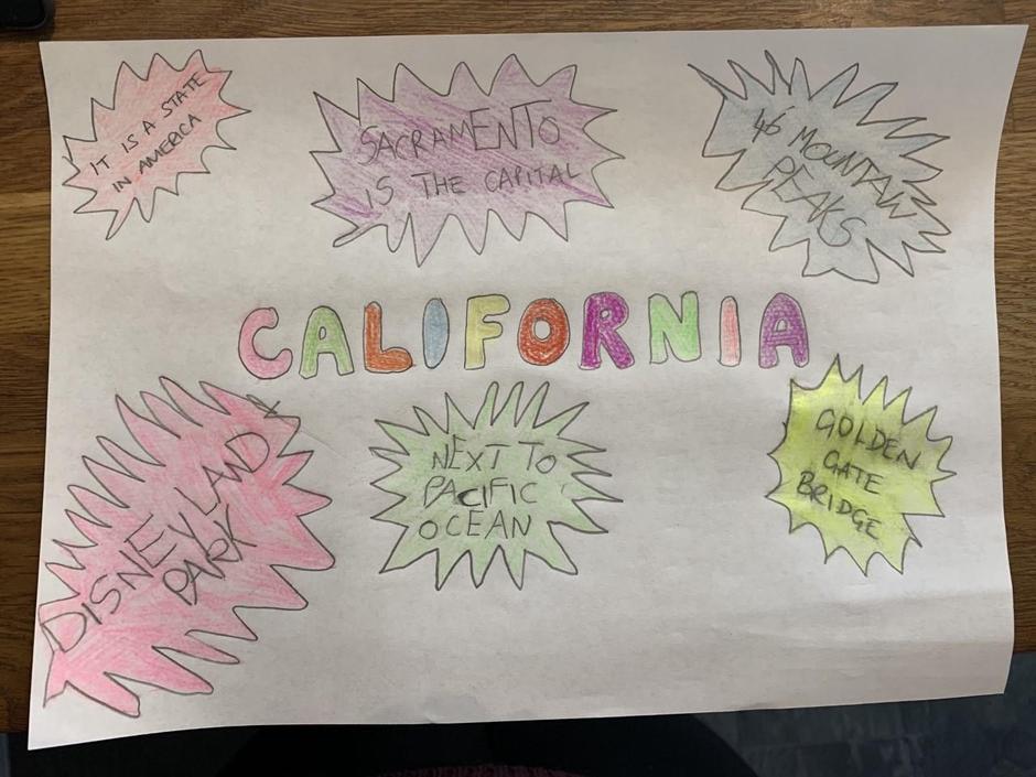 Noah enjoyed learning about California