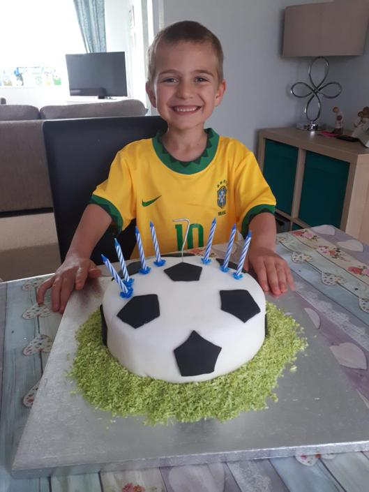 Sam celebrated his 7th birthday yesterday