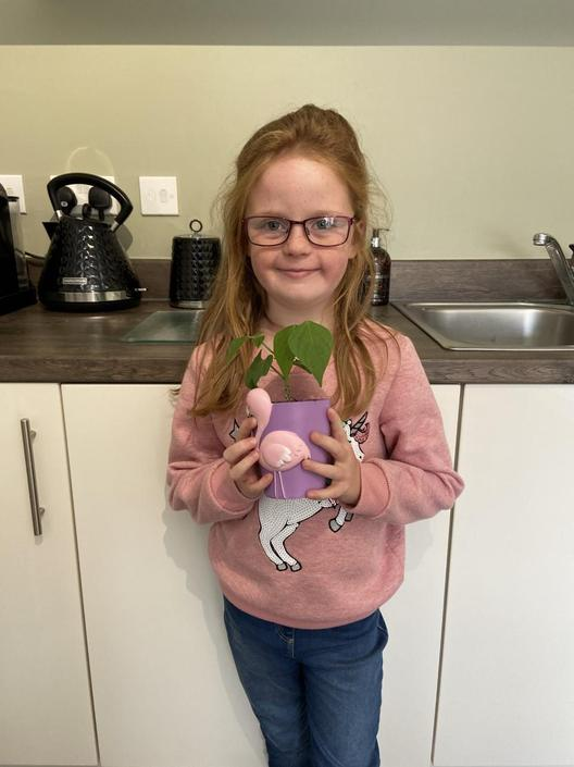 Sharna is very proud of her plants.
