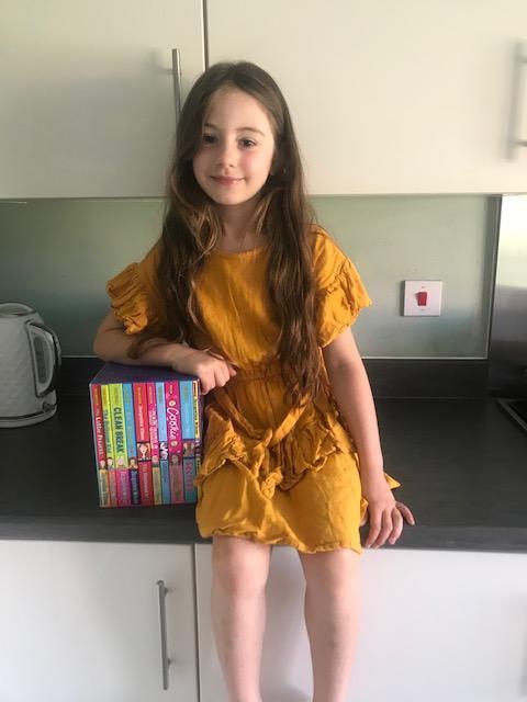 Eva is enjoying her new Jacqueline Wilson books