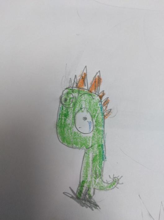 Aadihirai's dinosaur