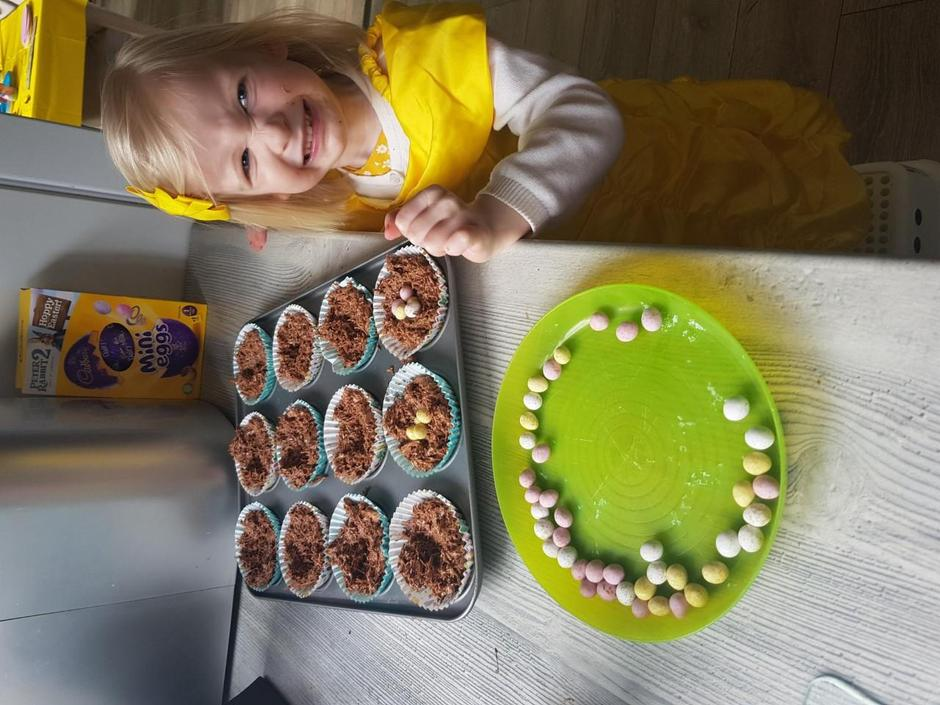 Yummy cakes- dressed as Belle- why not!!!