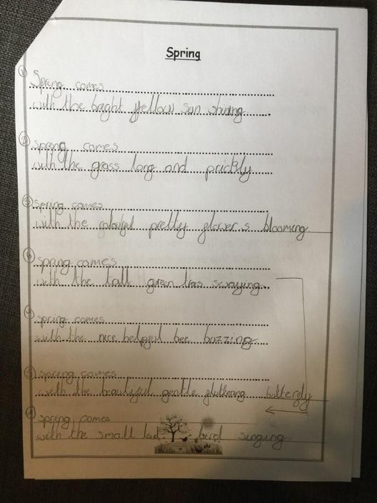 Nevan's fab spring poem