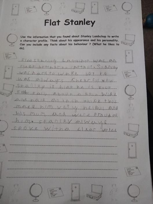 Some great work from Ellie this week.