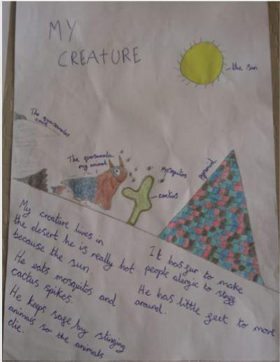 Look at this outstanding creature image! Keep up this amazing home learning.