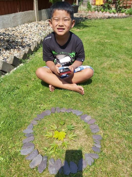 Pratik has created a beautiful Mandala.
