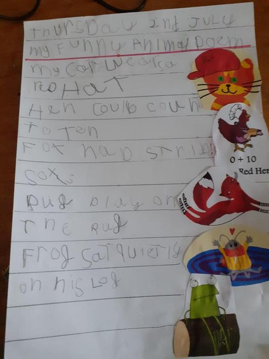 Evelyn has written a fabulous poem - well done.