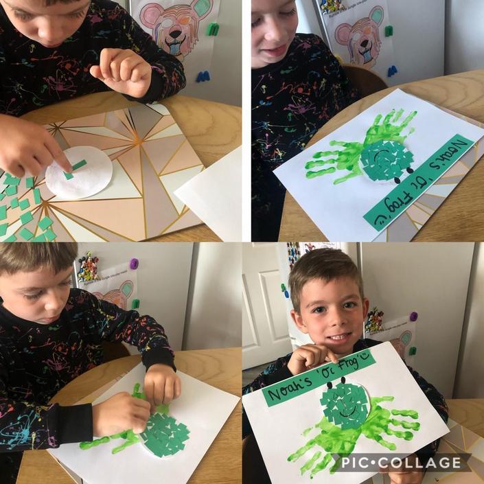 Noah has enjoyed designing 'Oi Frog'...