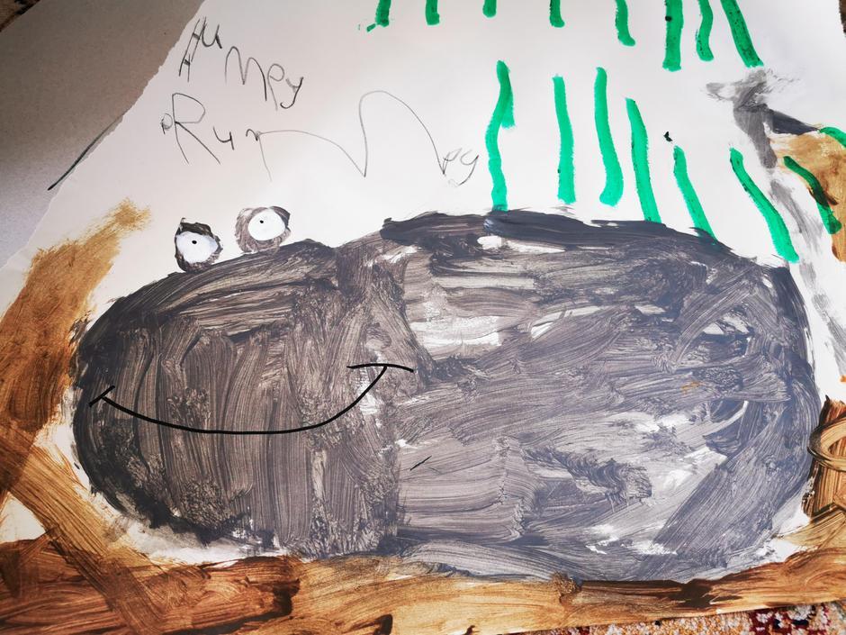 Rafi's drawing of Humpy Rumpy