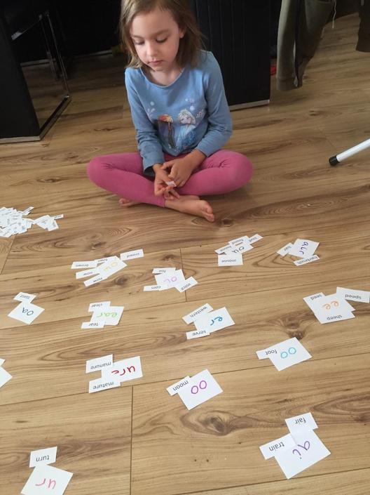 Matilda has been trying very hard with her phonics