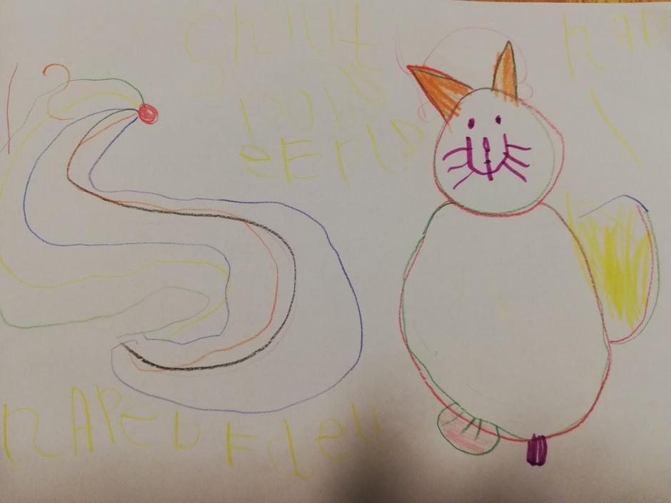 Alices rainbow writing