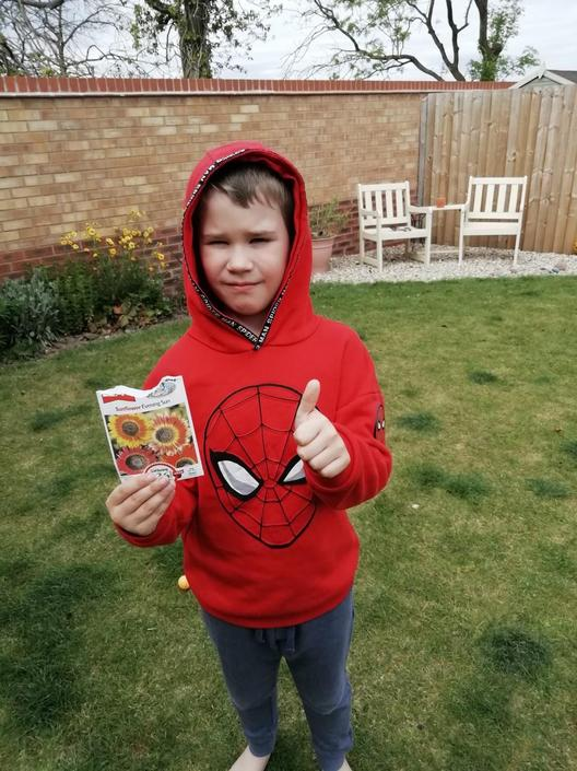 Great science learning in the garden for Jack