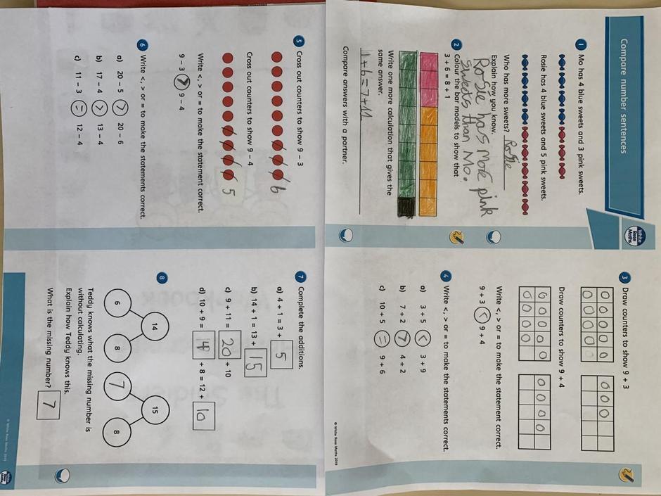 Noah has been enjoying his maths work this week!