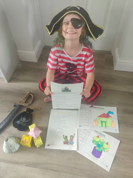 Pirate Isla sharing her learning!