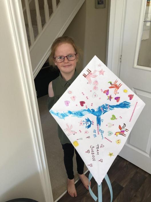 Sharna and her kite...
