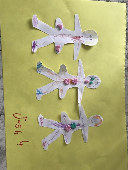 Josh made paper dolls- they are lovely