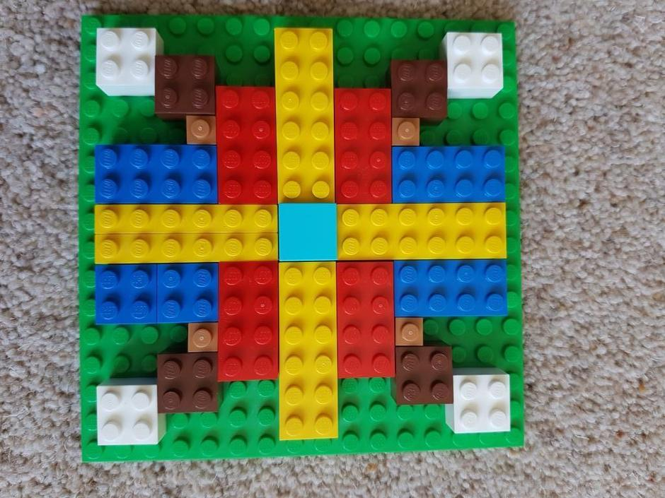Toby's fabulous lego Mandala - Well done!