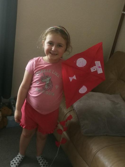 Priya's kite design - well done Priya.