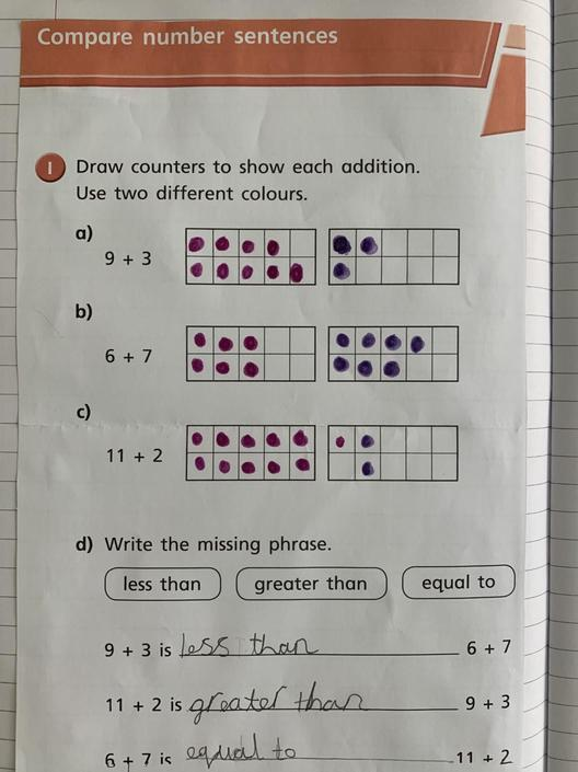 Brilliant learning Violet - keep it up!