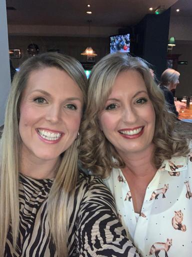 Mrs Dolman and Mrs Marshall enjoying a night out!