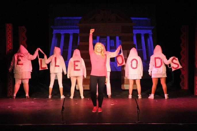 Mrs Dolman as Elle Woods in Legally Blonde