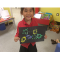 We have made our own firework painting.