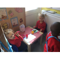 Making lots of food in our 'Restaurant'.