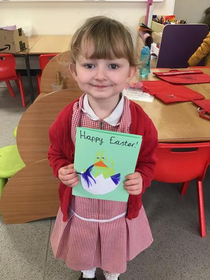 We have been learning about Easter and making our own Easter cards.