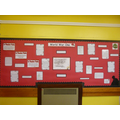 Our World War One display in the KS2 area.
