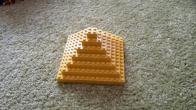 Ada had fun making her own pyramid at home.