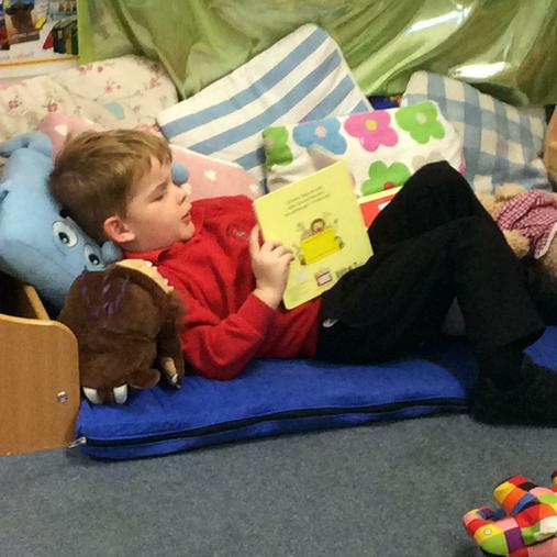 Our cosy reading area!