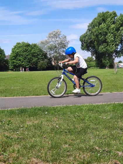 Rafferty riding his big bike⭐
