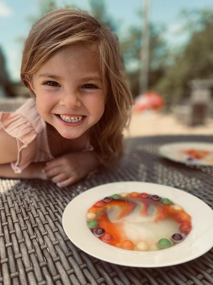 WOW - Ava tried the skittle experiment ⭐
