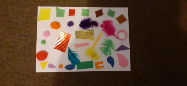 Jessica's snail, in the style of Matisse!