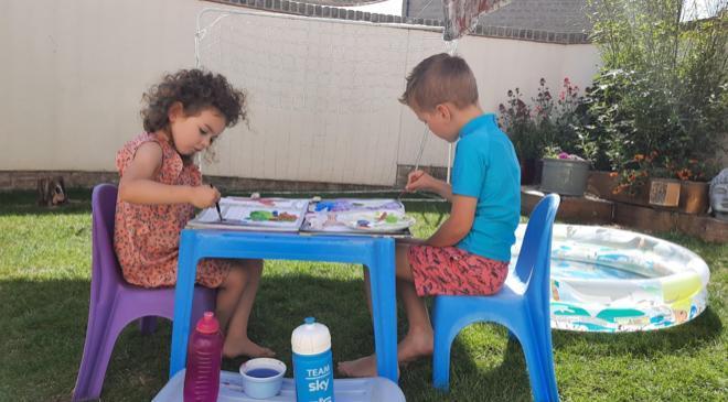 Learning outside is wonderful ⭐️