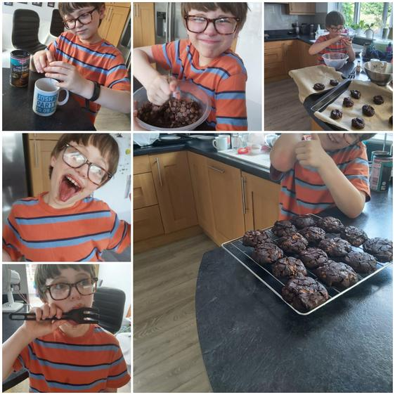 Josh baking! Thanks for the recipe Mrs Clermont