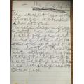 Mabel's writing about the Gruffalo