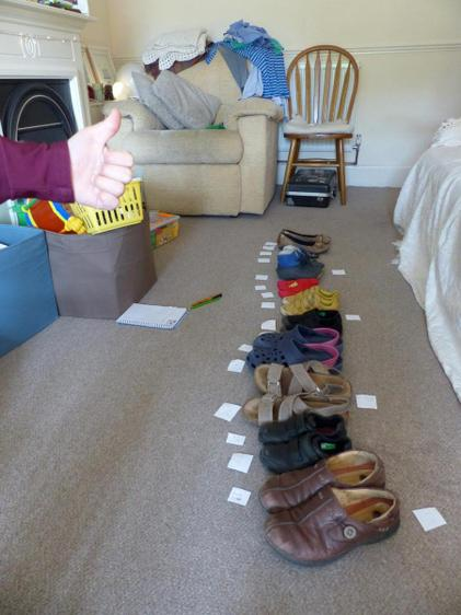 Counting pairs of shoes in 2s - great work ⭐️