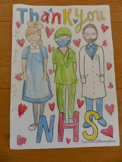 Aaron made a fab card for the Chippenham hospital⭐