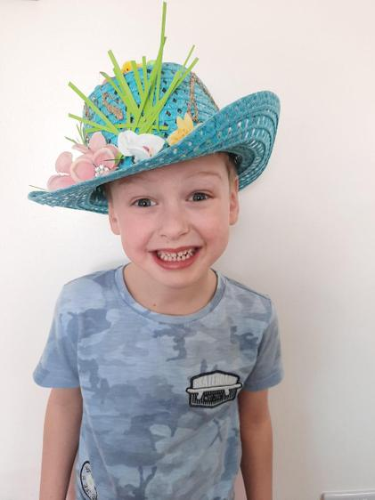 Luca, has won an Easter bonnet competition! ⭐️