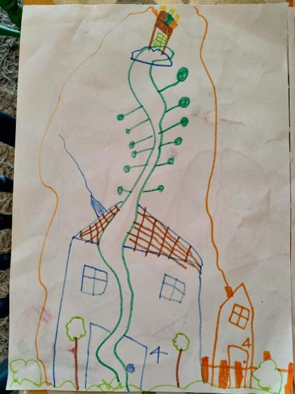 Ella's picture of Jack and the Beanstalk⭐