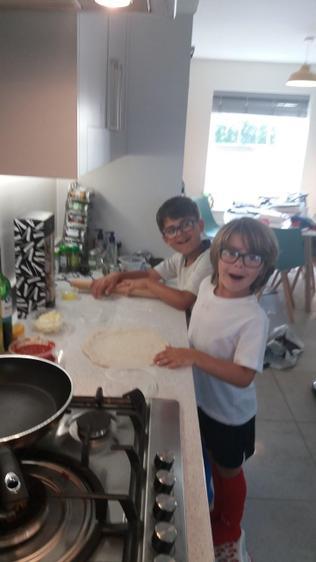 Jacob prepping his pizza base ⭐️