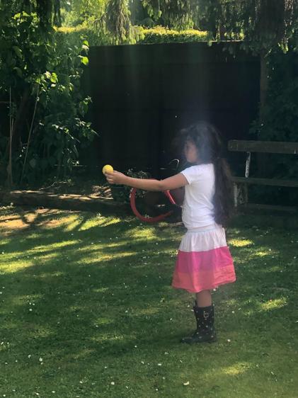Dahlia has developed her ball skills this week ⭐️