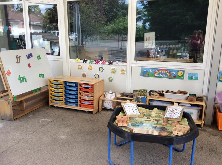 This is the EYFS outdoor area