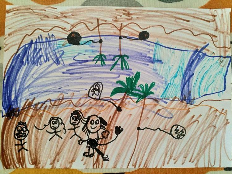 Ella's picture of the Nile in Ancient Egypt