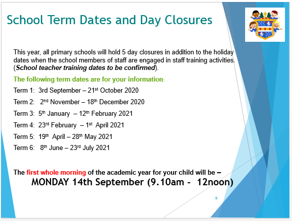 Term time information
